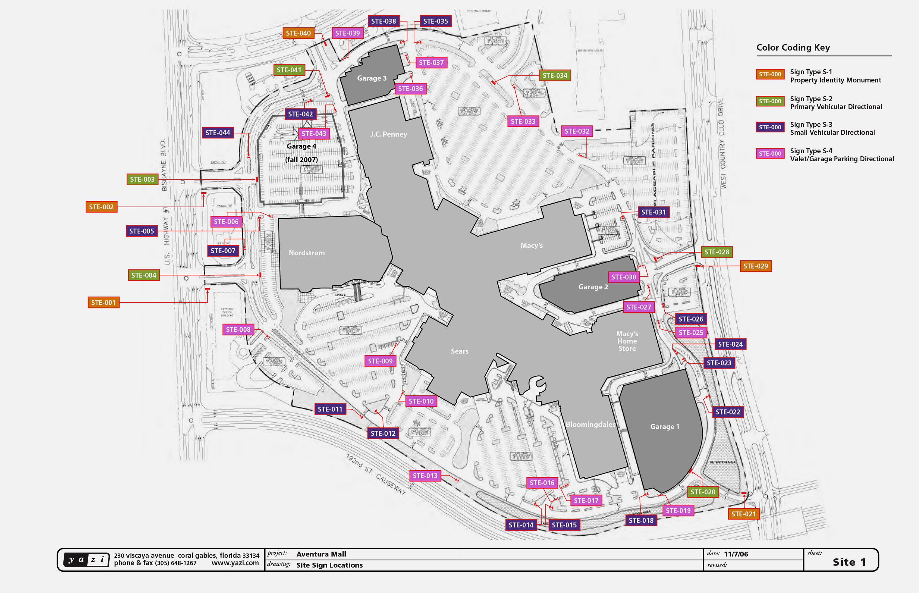 YaziAventura Mall - Florida mall map